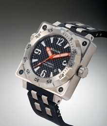 Môntrèk Men's Black Diver Watch